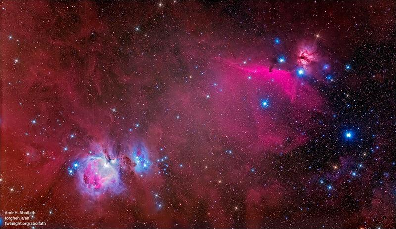 Orion and Horse head nebula complex