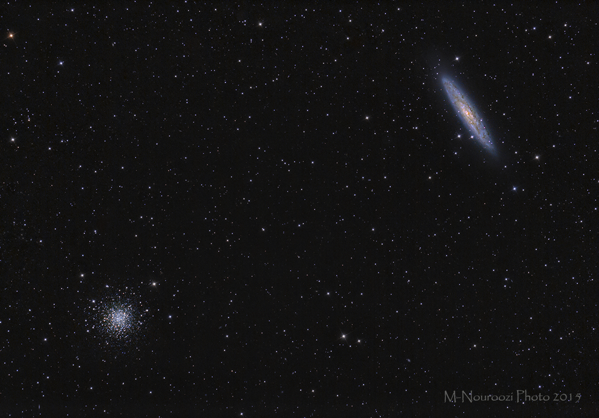 The Sculptor Galaxy(NGC253) And Globular Star Cluster NGC288 In The Constellation Sculptor!